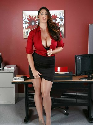 Big Tits in Office Pics